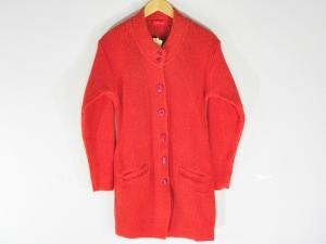 New Stylish Hot Woolen Red Cardigan For Women - Large Size