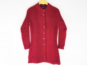 New Stylish Hot Woolen Maroon Color Cardigan For Women - L Size