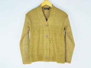 New Stylish Hot Woolen Light Brown Cardigan For Women - L Size