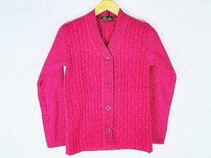 New Stylish Hot Woolen Pink Cardigan For Women - L Size