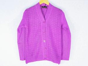 New Stylish Hot Woolen Purple Color Cardigan For Women - L Size