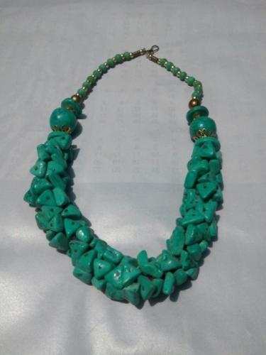 Necklace - Duplicate Firoza Stone Necklace-21